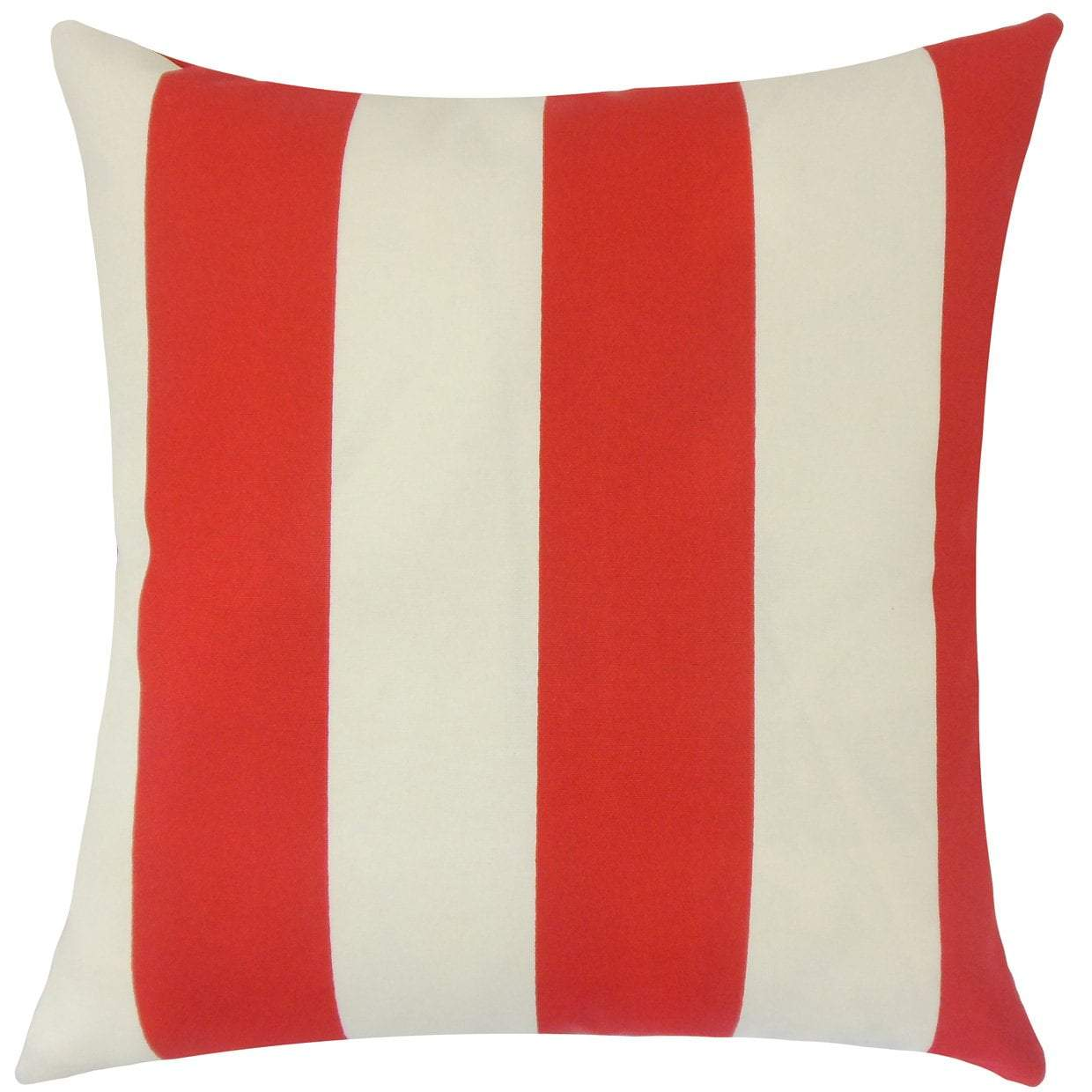 Red Synthetic Striped Contemporary Throw Pillow Cover