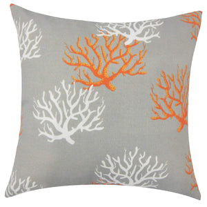 Gray Synthetic Graphic Coastal Throw Pillow Cover