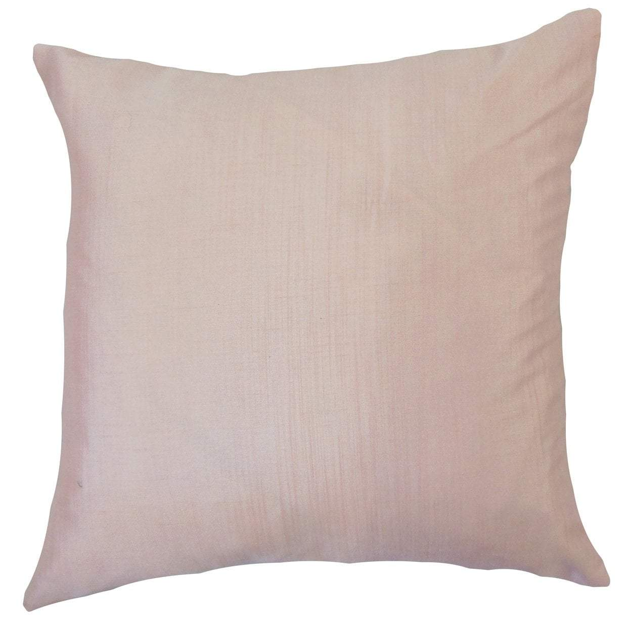 Tan Synthetic Solid Contemporary Throw Pillow Cover