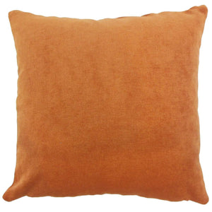 Orange Synthetic Solid Luxe Throw Pillow Cover