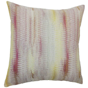 Pink Synthetic Graphic Contemporary Throw Pillow Cover