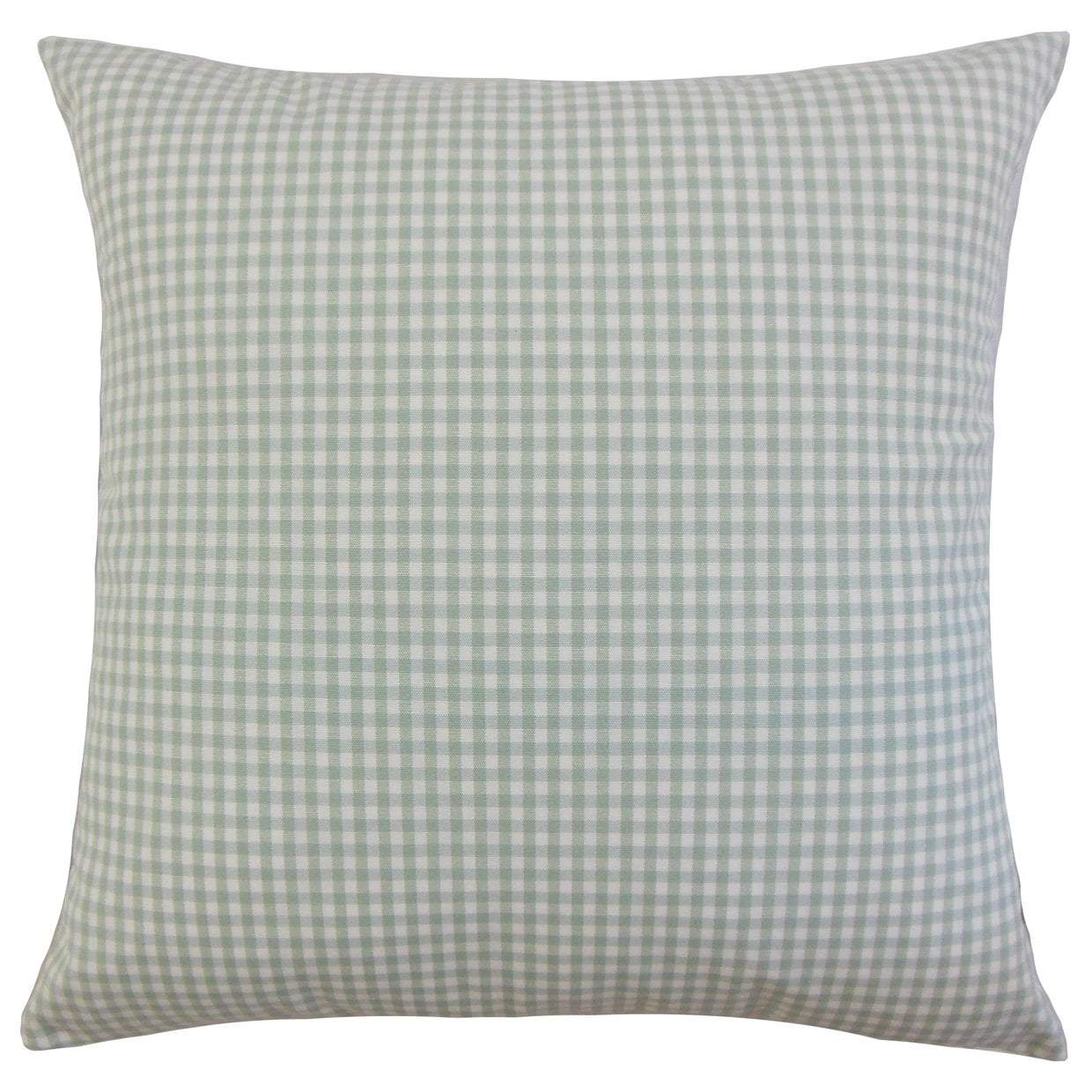 Blue Cotton Plaid Contemporary Throw Pillow Cover