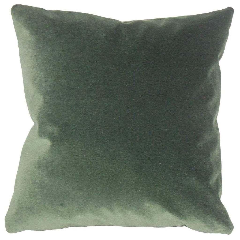 Green Velvet Solid Holiday Throw Pillow Cover
