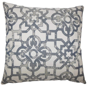 Gray Synthetic Geometric Contemporary Throw Pillow Cover