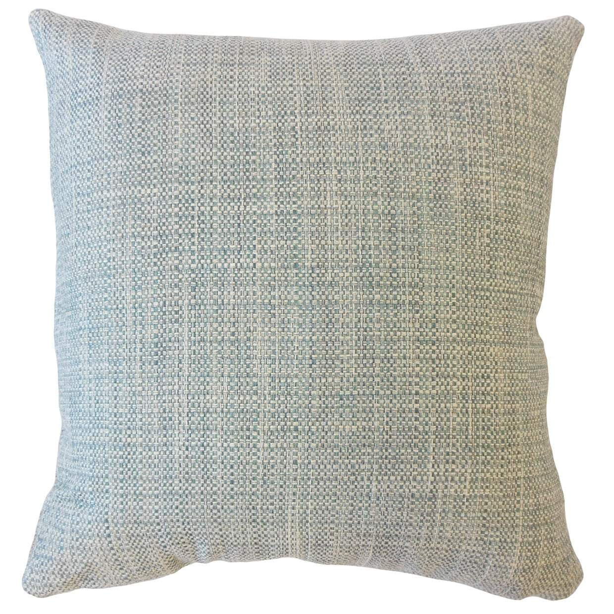 Blue Synthetic Solid Contemporary Throw Pillow Cover