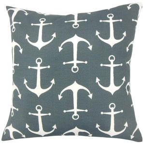 Synthetic Graphic Coastal Throw Pillow Cover