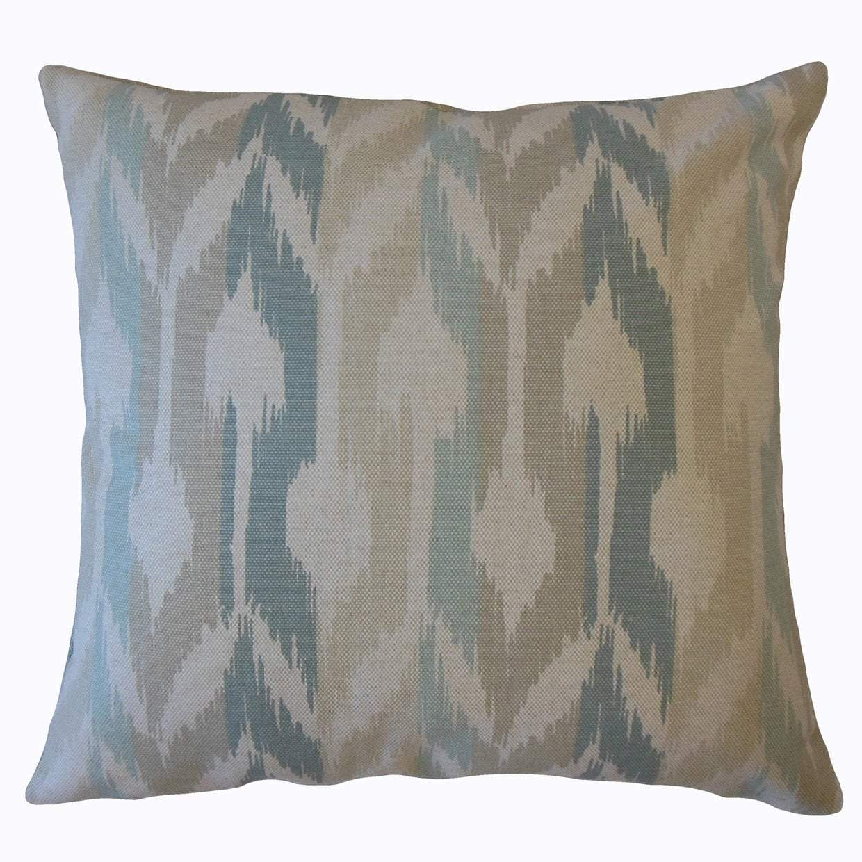 Blue Cotton Ikat Boho Throw Pillow Cover