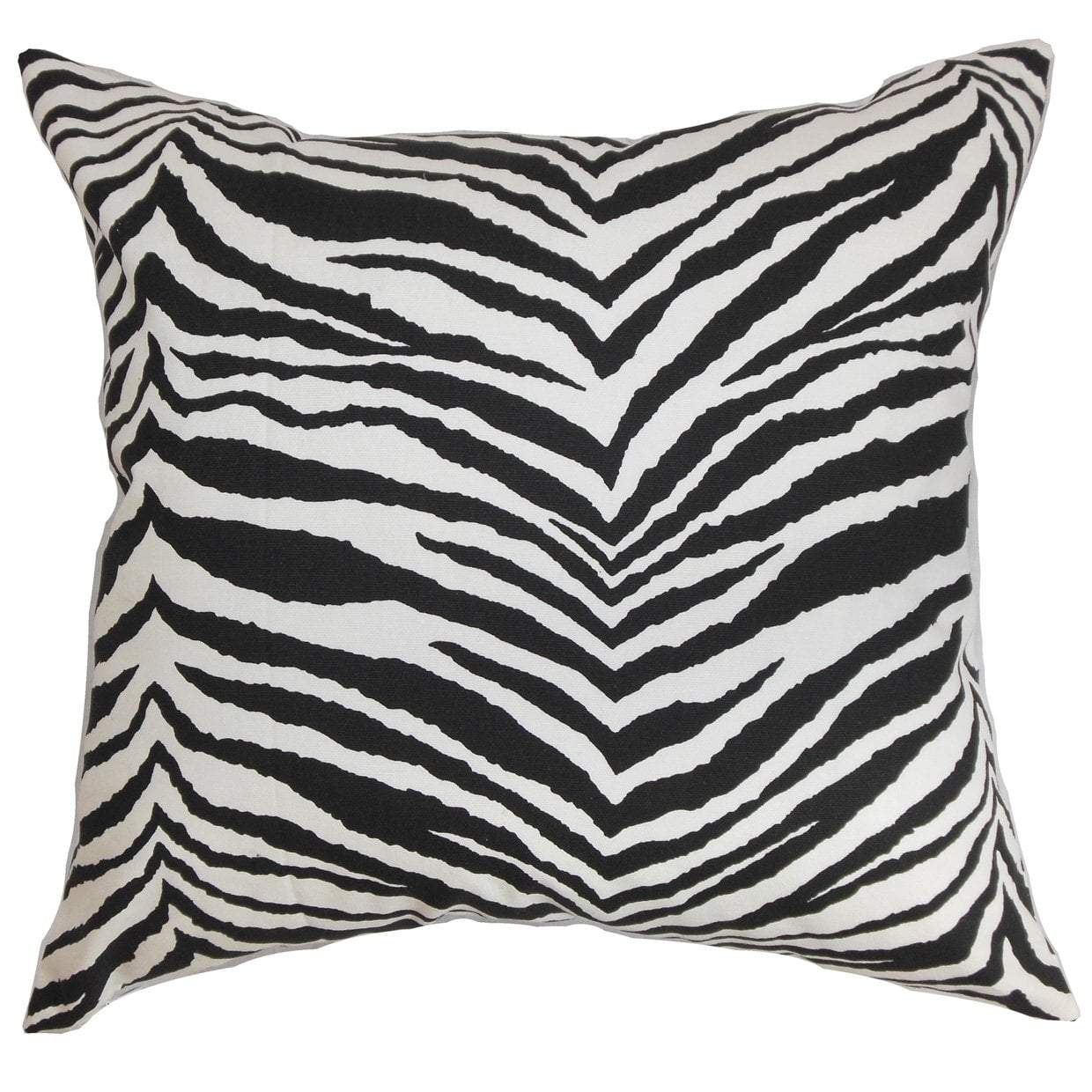 Black Cotton Striped Contemporary Throw Pillow Cover