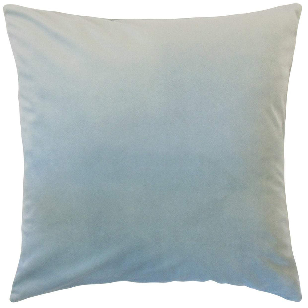 Sky Blue Velvet Solid Luxe Throw Pillow Cover