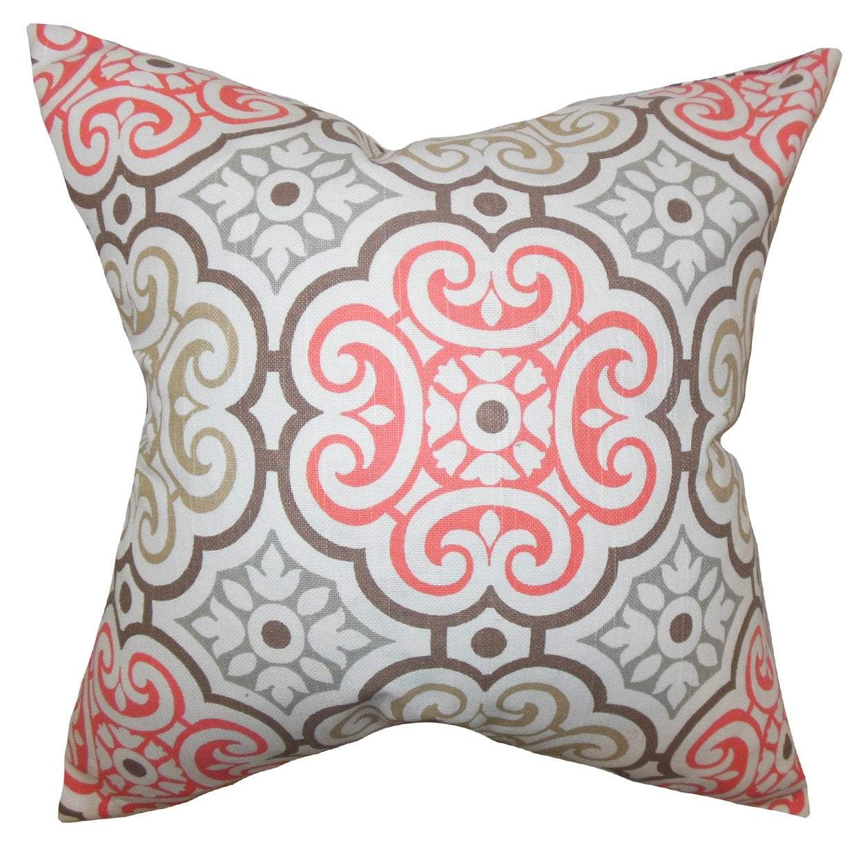 Cotton Geometric Contemporary Throw Pillow Cover