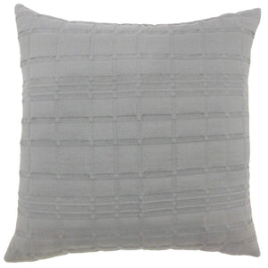 Gray Synthetic Solid Contemporary Throw Pillow Cover