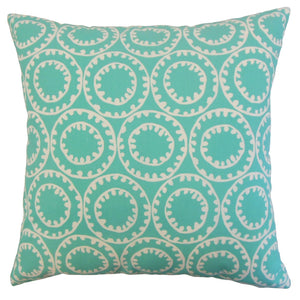 Blue Outdoor Geometric Contemporary Throw Pillow Cover