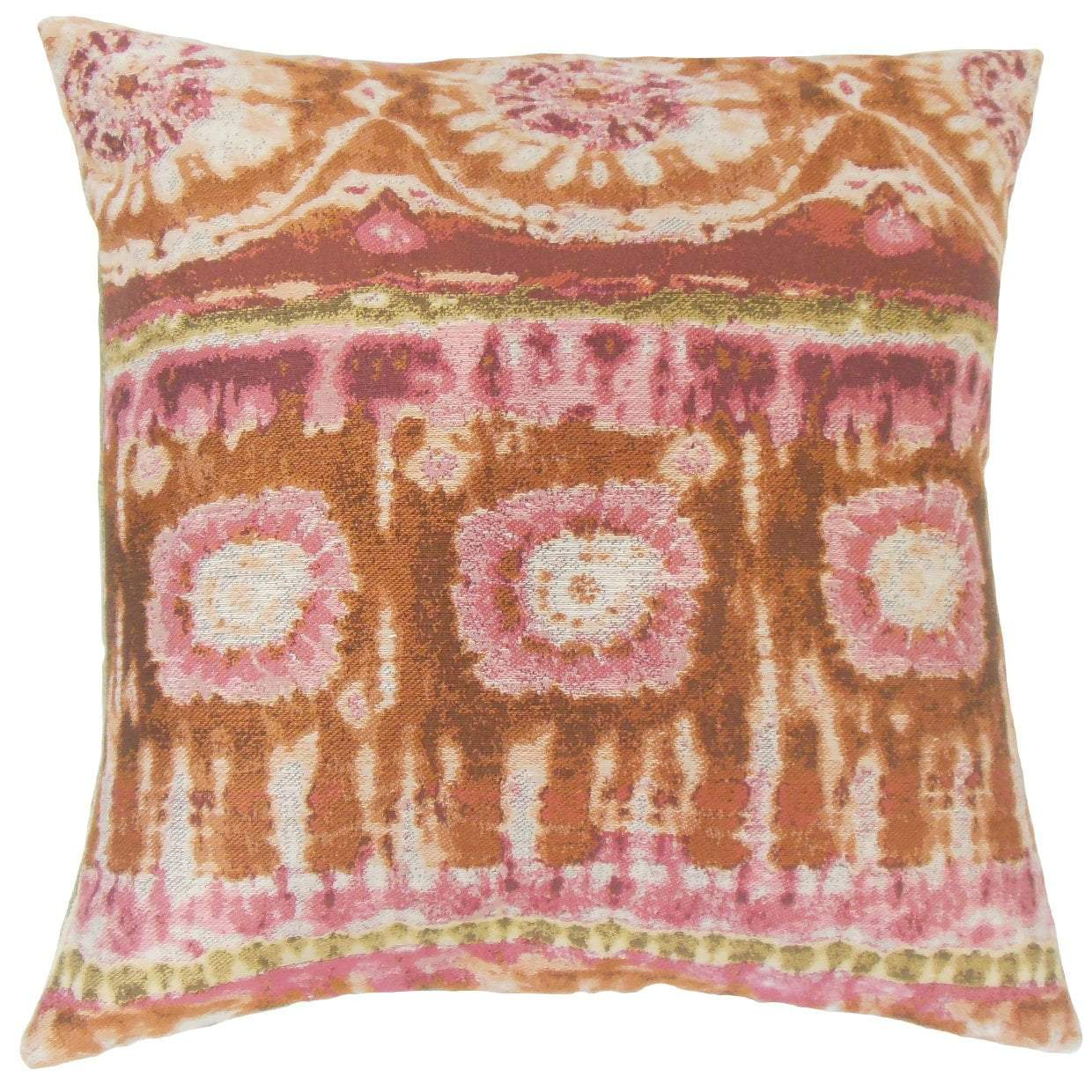 Synthetic Ikat Boho Throw Pillow Cover