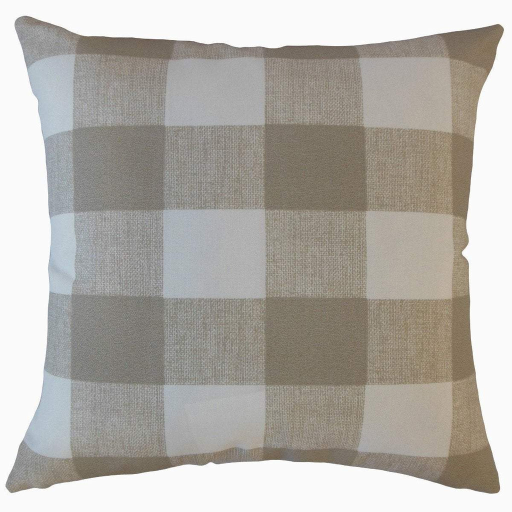 Brown Synthetic Plaid Preppy  Throw Pillow Cover