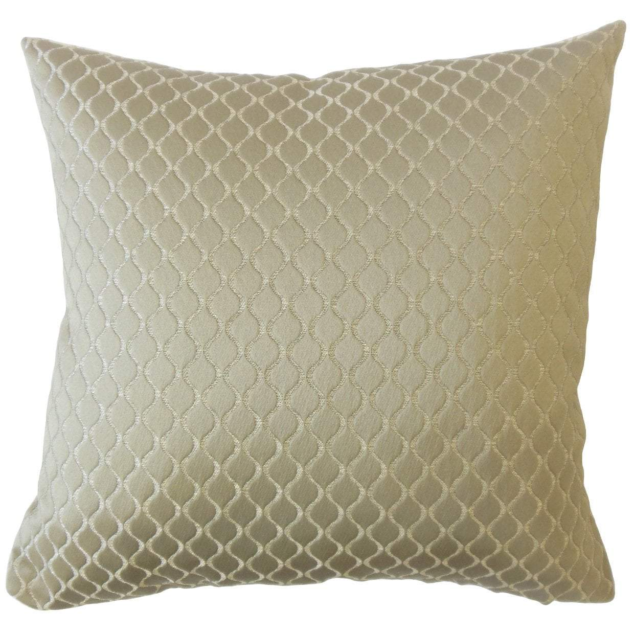 Gray Synthetic Solid Luxe Throw Pillow Cover