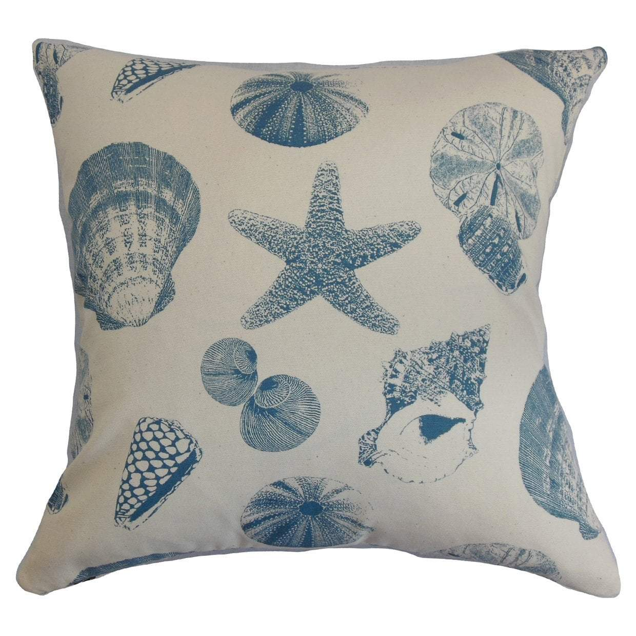 Cotton Graphic Coastal Throw Pillow Cover