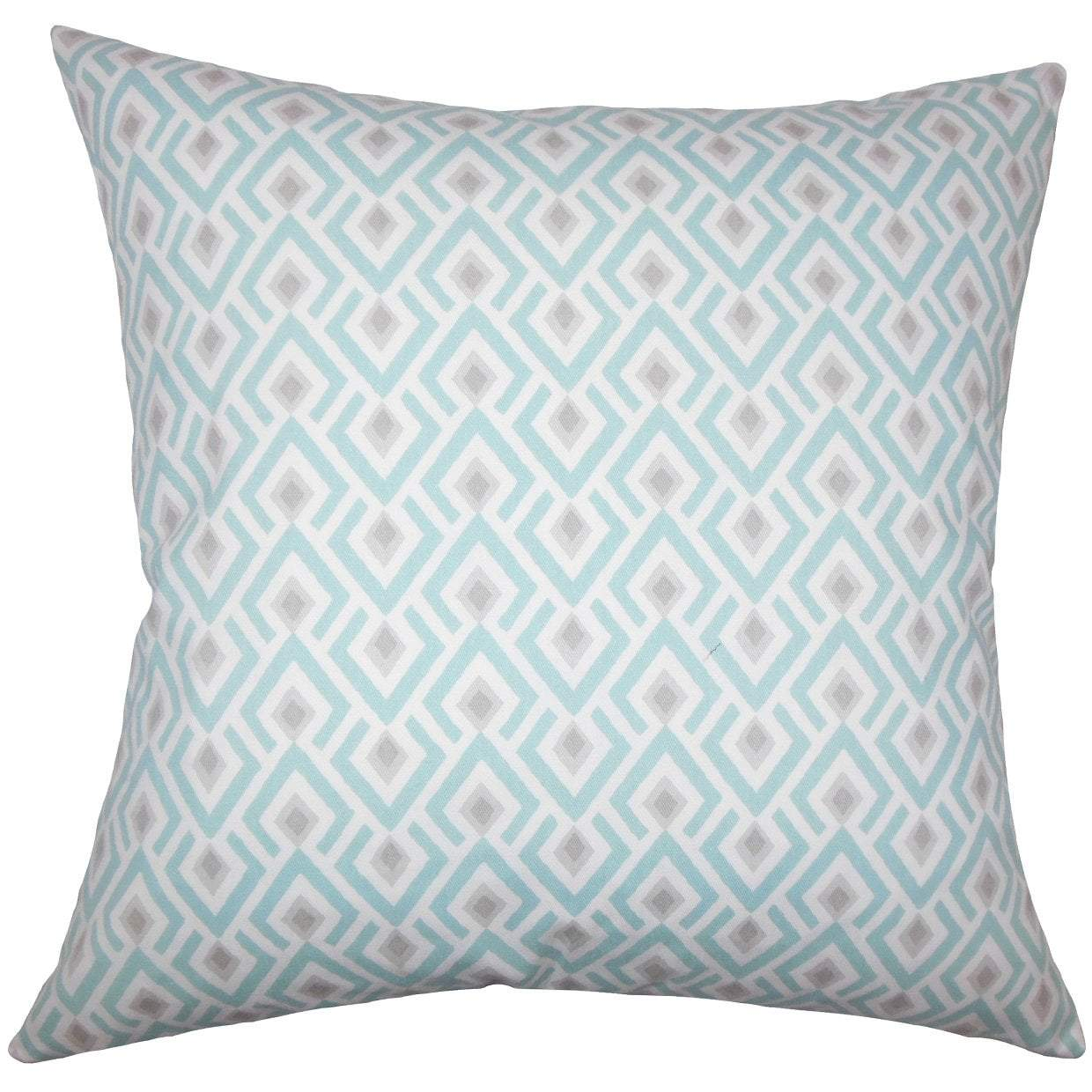 Multi Cotton Geometric Contemporary Throw Pillow Cover
