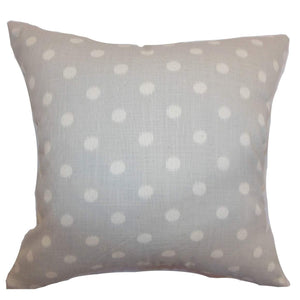 Tan Cotton Polka Dot Contemporary Throw Pillow Cover