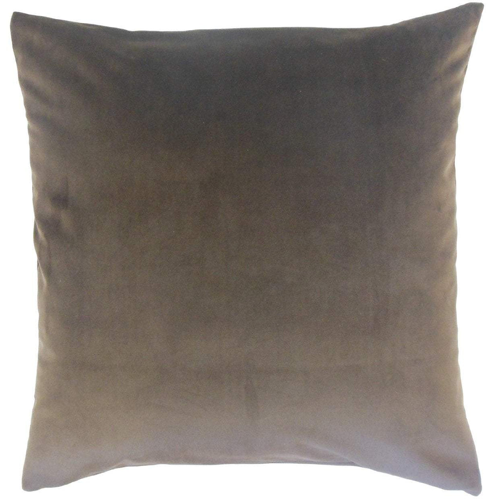 Charcoal Velvet Solid Luxe Throw Pillow Cover