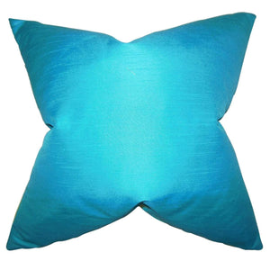 Blue Synthetic Solid Luxe Throw Pillow Cover