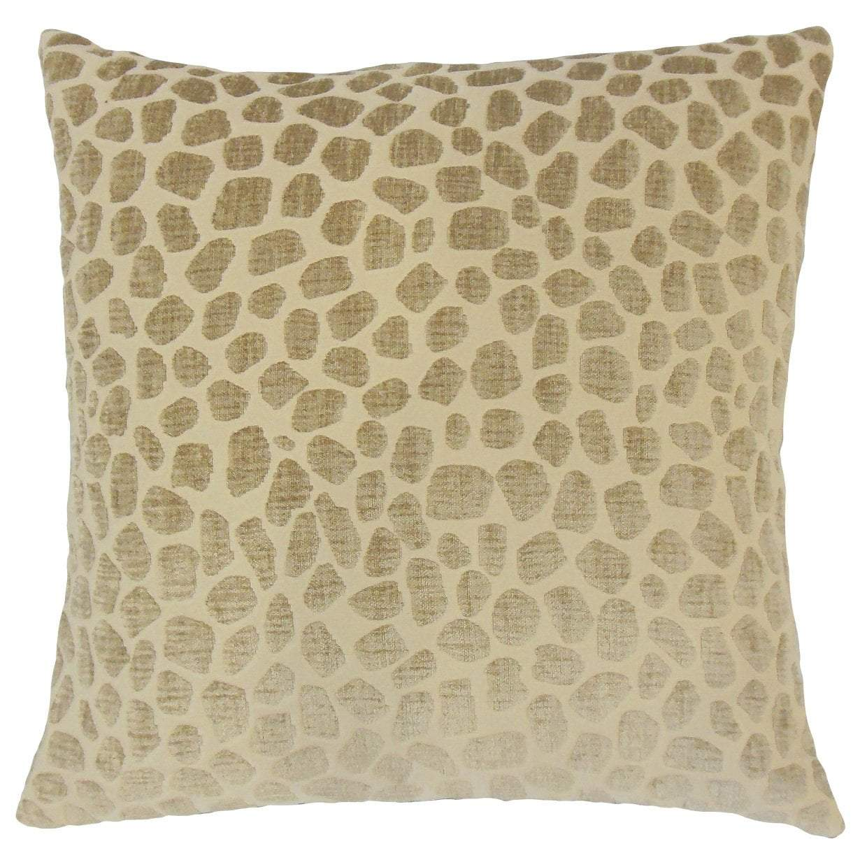 Tan Synthetic Geometric Contemporary Throw Pillow Cover