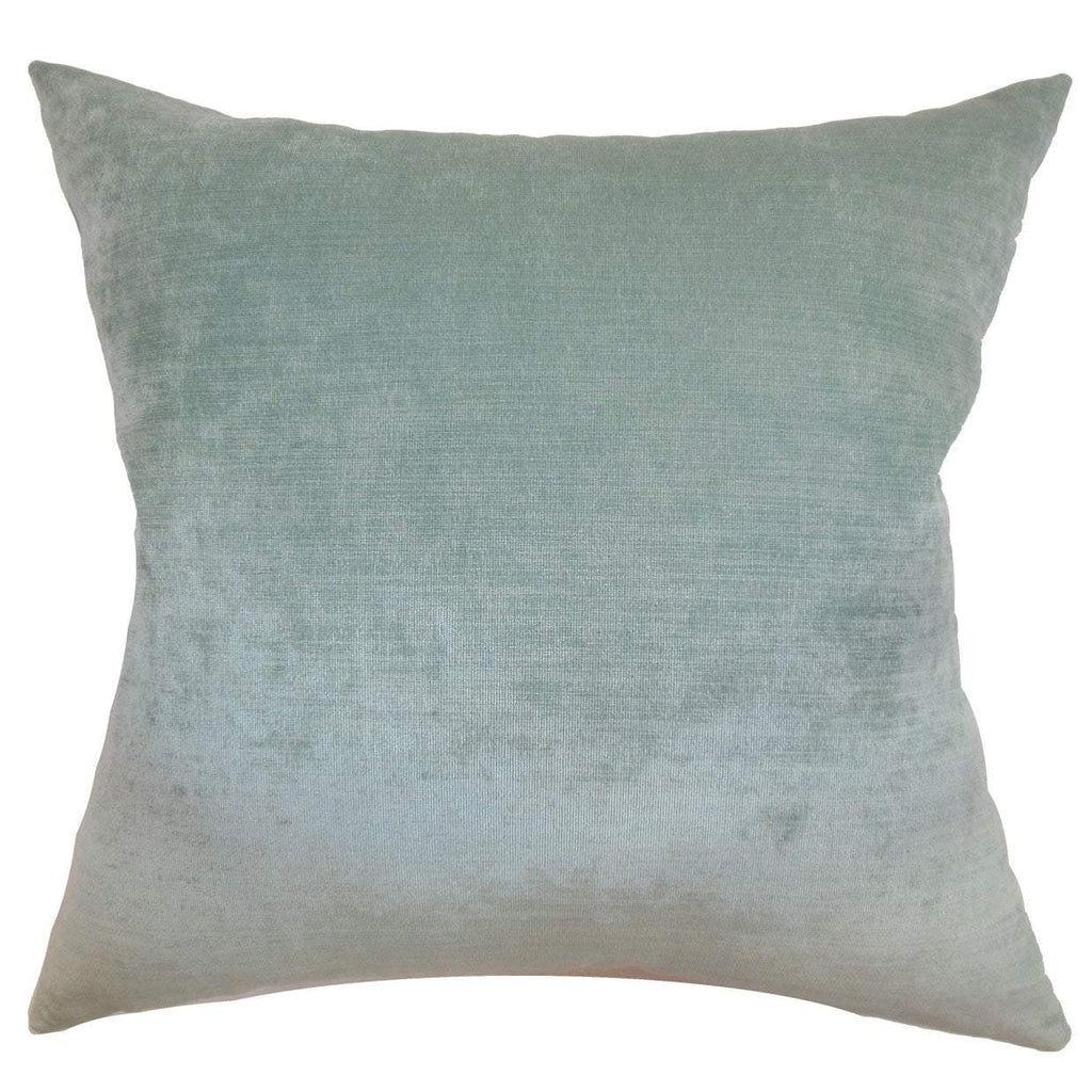 Blue Velvet Solid Luxe Throw Pillow Cover