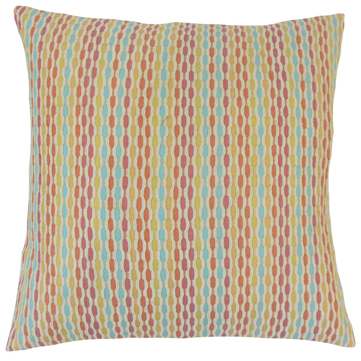Multi Synthetic Striped Contemporary Throw Pillow Cover