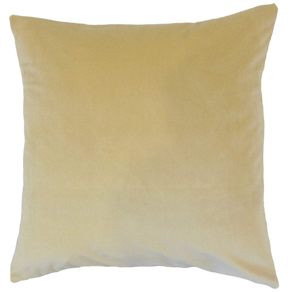 Tan Velvet Solid Luxe Throw Pillow Cover