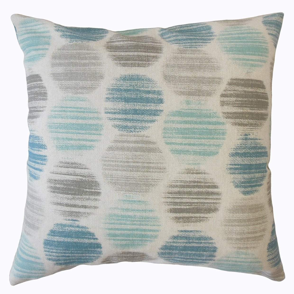 Blue Cotton Polka Dot Contemporary Throw Pillow Cover