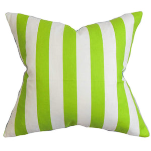 White Cotton Striped Contemporary Throw Pillow Cover