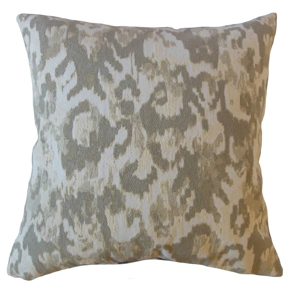 Tan Synthetic Ikat Boho  Throw Pillow Cover