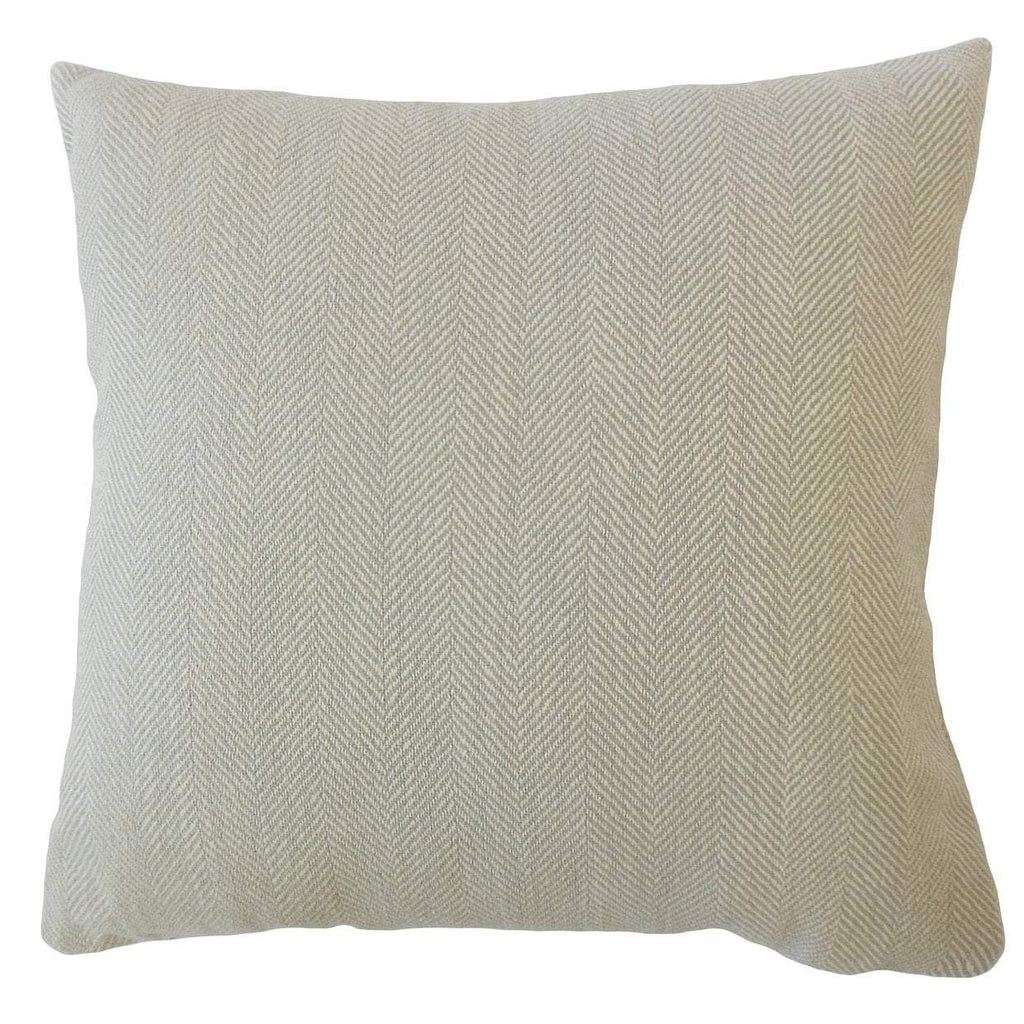 Tan Synthetic Striped Contemporary Throw Pillow Cover