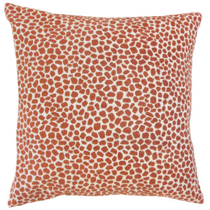 Orange Synthetic Graphic Contemporary Throw Pillow Cover