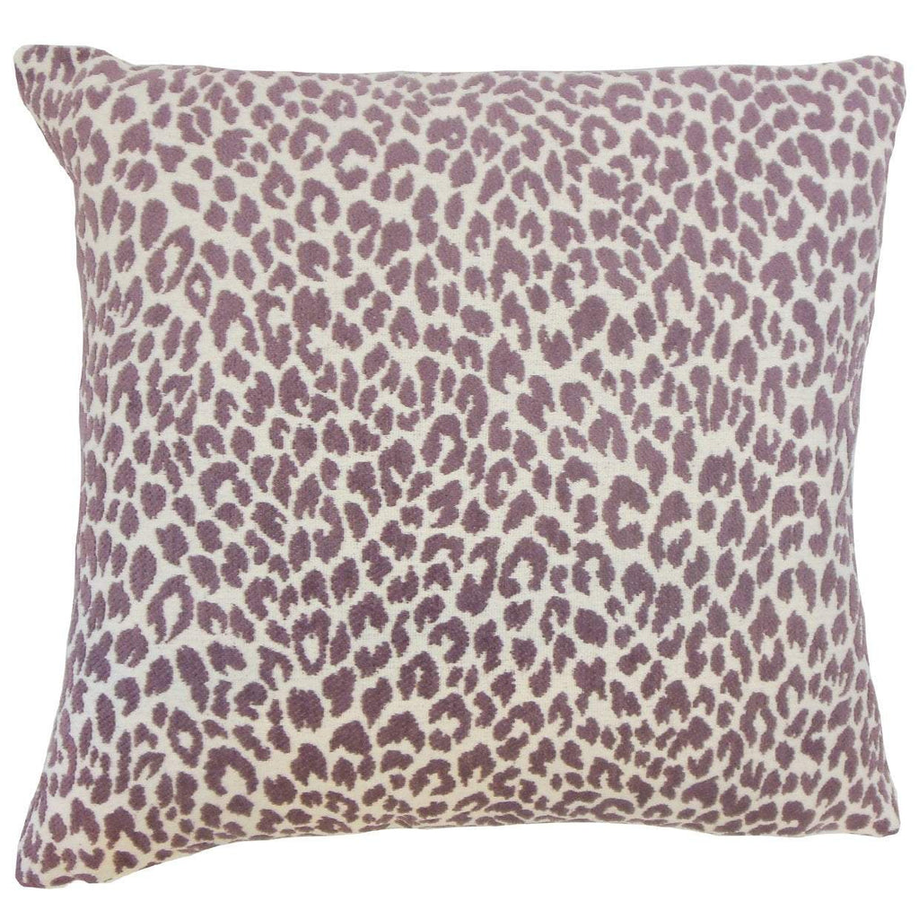 Purple Synthetic Graphic Contemporary Throw Pillow Cover