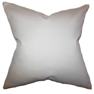 Tan Cotton Solid Contemporary Throw Pillow Cover