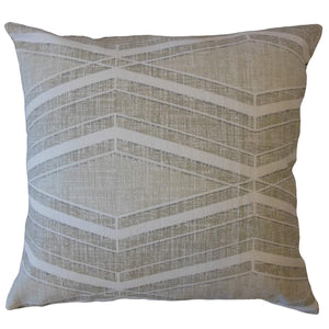 Brown Cotton Geometric Contemporary Throw Pillow Cover