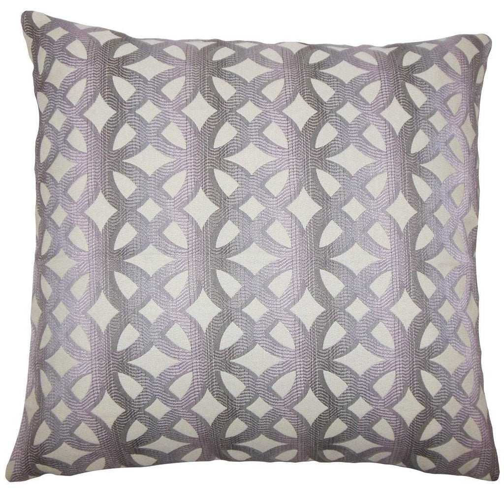Purple Synthetic Geometric Contemporary Throw Pillow Cover