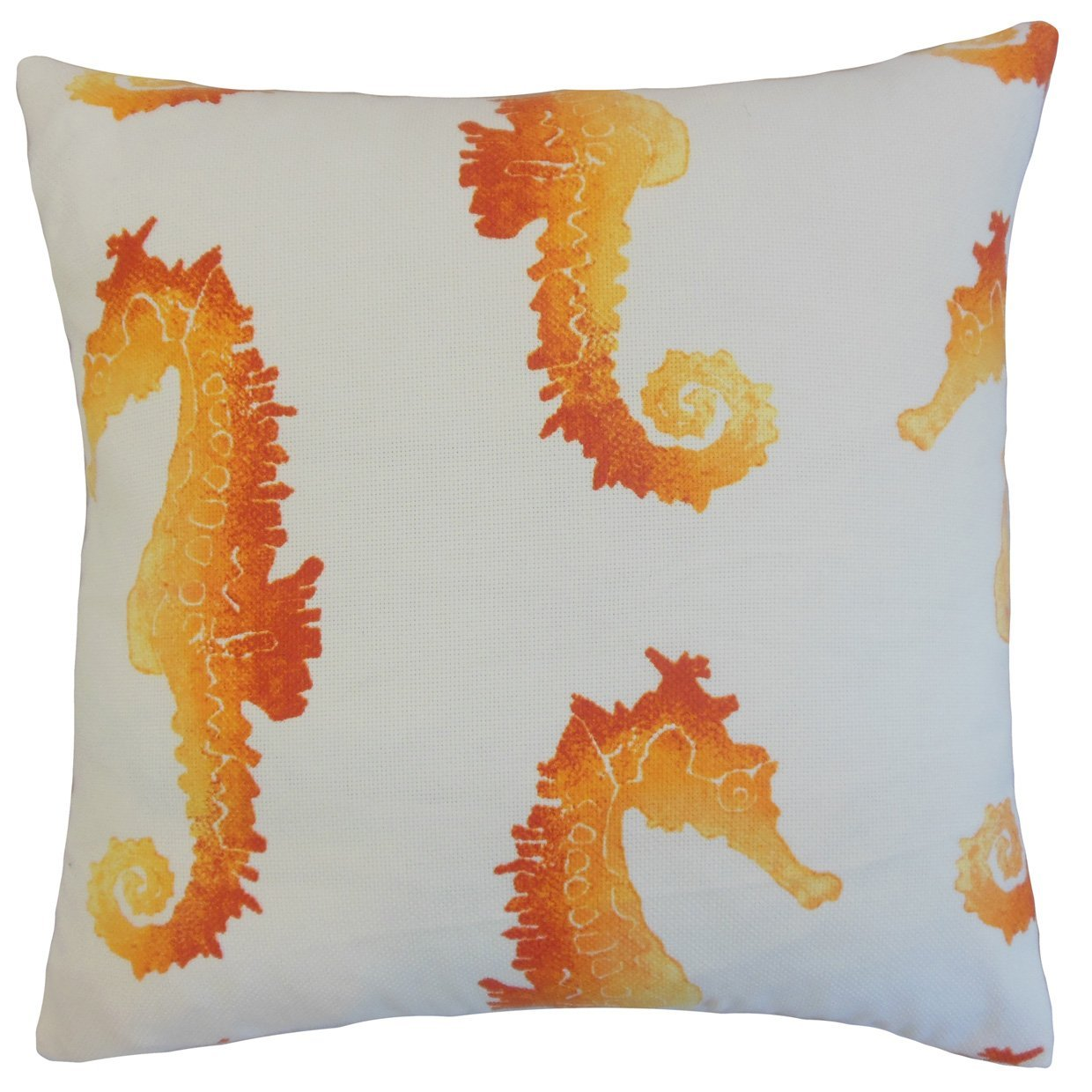 Orange Outdoor Graphic Contemporary Throw Pillow Cover