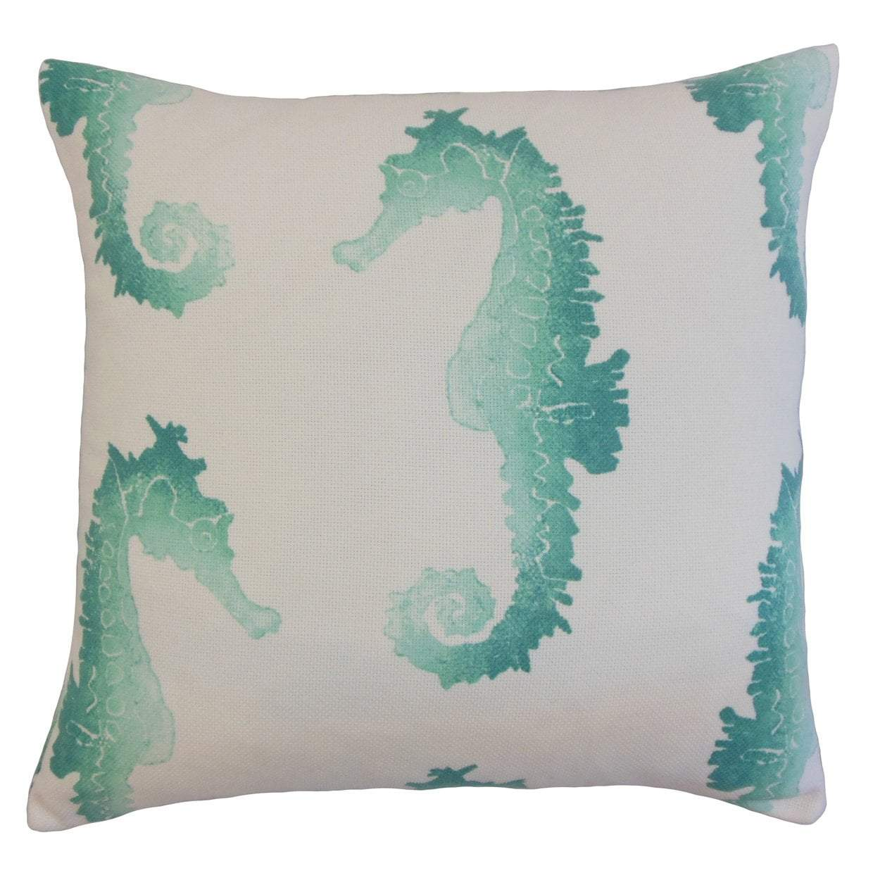 Blue Synthetic Graphic Coastal Throw Pillow Cover
