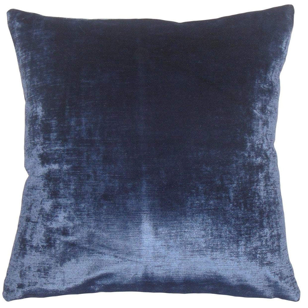 Blue Velvet Solid Holiday Throw Pillow Cover