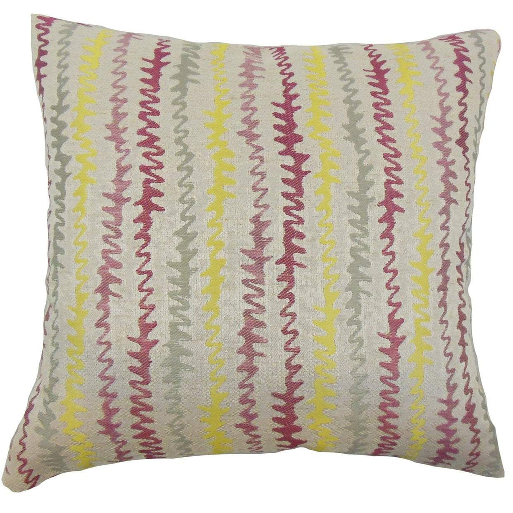 Purple Synthetic Chevron Contemporary Throw Pillow Cover