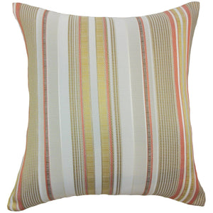 Synthetic Striped Contemporary Throw Pillow Cover