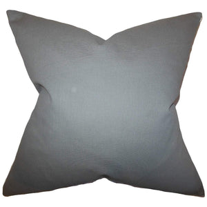 Gray Cotton Solid Contemporary Throw Pillow Cover