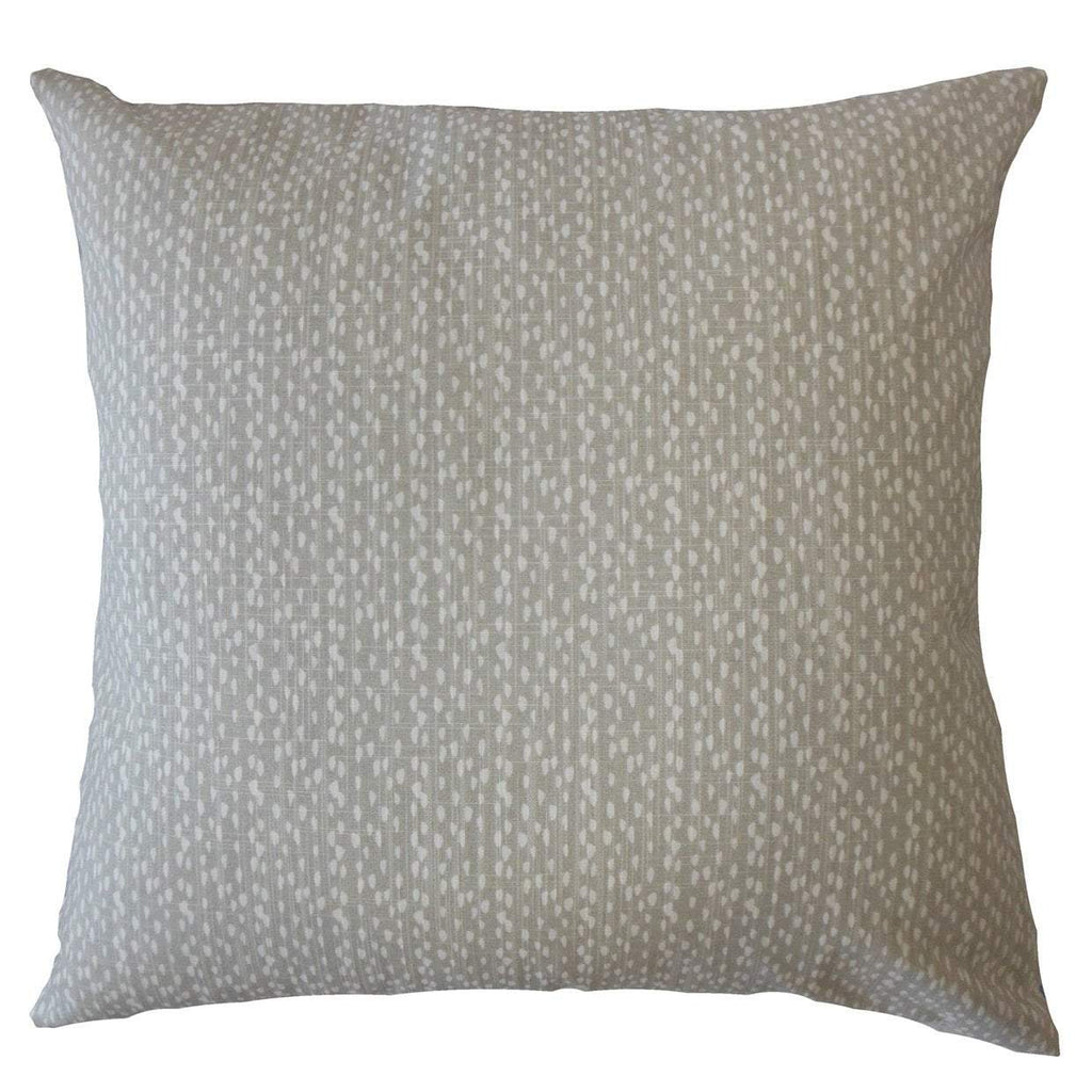 Gray Cotton Polka Dot Contemporary Throw Pillow Cover