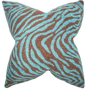 Blue Synthetic Striped Boho Throw Pillow Cover