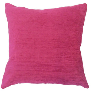Red Synthetic Solid Contemporary Throw Pillow Cover