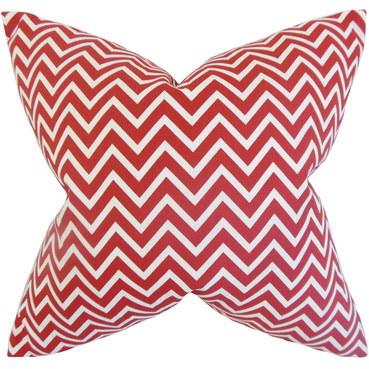 Cotton Chevron Contemporary Throw Pillow Cover