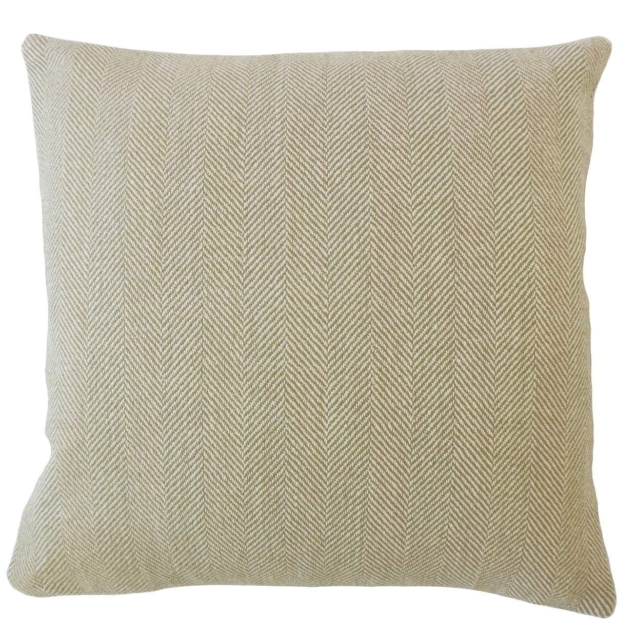 Brown Synthetic Solid Contemporary Throw Pillow Cover