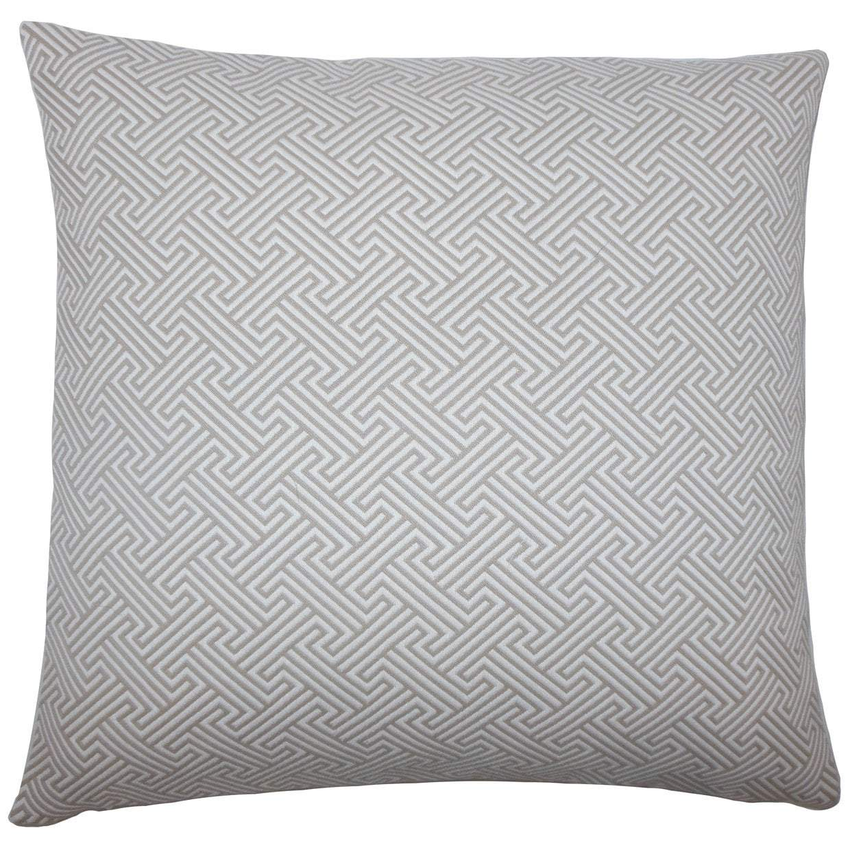 Gray Cotton Geometric Contemporary Throw Pillow Cover