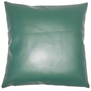 Green Synthetic Solid Holiday Throw Pillow Cover
